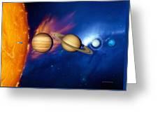 Sun And Its Planets Greeting Card