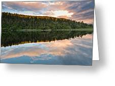 Sunrise Above A Lake On A Wind Still Morning Greeting Card