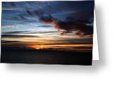 Sunset Over Poole Bay Greeting Card