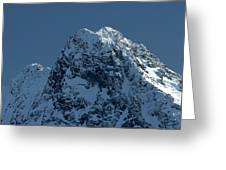 Tatra Mountains Winter Scenery Greeting Card