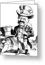 Teddy Roosevelt Cartoon Greeting Card