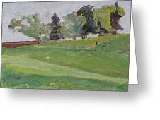 The Row Of Trees Greeting Card