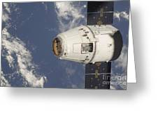 The Spacex Dragon Commercial Cargo Greeting Card