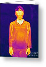 Thermogram Of A Boy Greeting Card