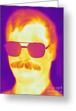 Thermogram Of A Man Greeting Card