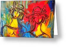 Two Girls Greeting Card