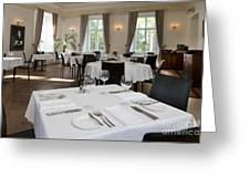 Upscale Hotel Dining Room Greeting Card