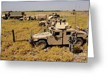 U.s. Army Soldiers Provide Security Greeting Card