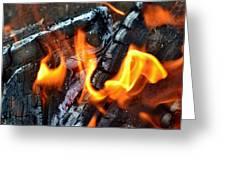 Wood Fire Greeting Card