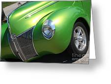 40 Ford - Front Driver Angle-8665 Greeting Card