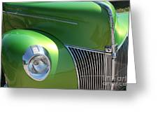 40 Ford - Front Pass Angle-8651 Greeting Card