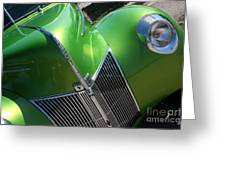 40 Ford - Grill Angle-8659 Greeting Card