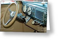 40 Ford Coupe Dash Greeting Card