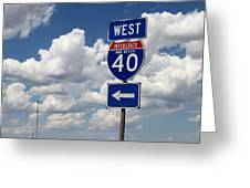 40 West Greeting Card