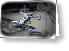 41 Packard Hood Ornament Greeting Card