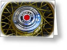 41 Packard Wheel Greeting Card