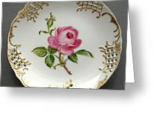 432 Small Rose Plate Greeting Card by Wilma Manhardt