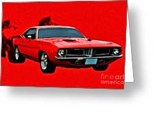 440 Charger Greeting Card