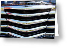 48 Chevy Convertible Grill Greeting Card