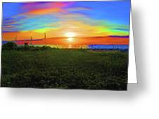 49- Electric Sunrise Greeting Card