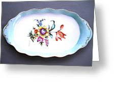 495 Oval Tray Dresden Style Greeting Card