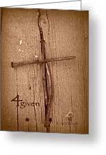 4given Forgiven Greeting Card by Cindy Wright