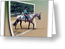 4h Horse Competition Greeting Card