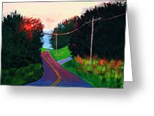 4th Of July Sunset Greeting Card by Laurie Breton