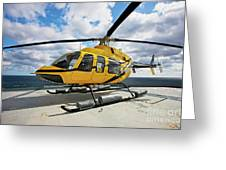 A Bell 407 Utility Helicopter Greeting Card