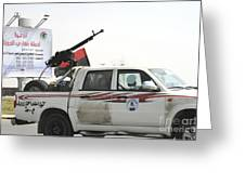 A Free Libyan Army Pickup Truck Greeting Card