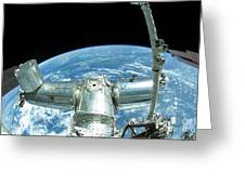 A Portion Of The International Space Greeting Card
