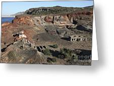 Abandoned Manganese Mine At Cape Vani Greeting Card
