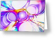Abstract Of Circle  Greeting Card