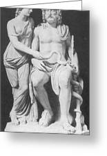 Aesculapius, Greek God Of Medicine Greeting Card