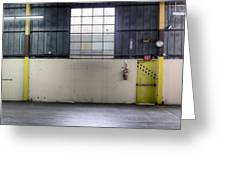 An Empty Industrial Building In Los Greeting Card
