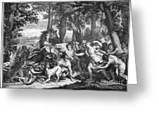Atalanta And Meleager Greeting Card
