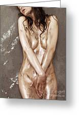 Beautiful Soiled Naked Woman's Body Greeting Card