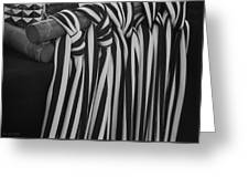 5 Black And White Ties Greeting Card