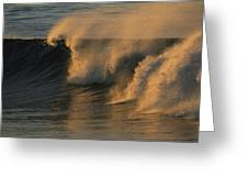 Breaking Surf At Sunset In La Jolla Greeting Card