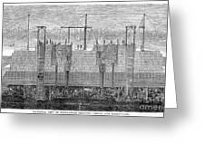 Brooklyn Bridge, 1870 Greeting Card