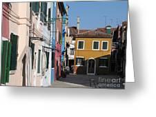 Burano Island. Venice Greeting Card