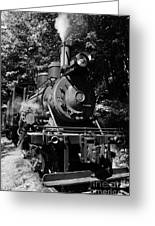 Climax Geared Locomotive Greeting Card