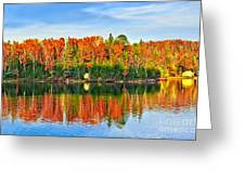Fall Forest Reflections Greeting Card