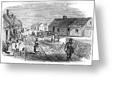 Freedmens Village, 1866 Greeting Card by Granger