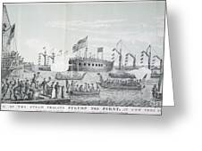 Fulton Steam Frigate, 1814 Greeting Card