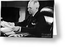 Harry S. Truman (1884-1972) Greeting Card