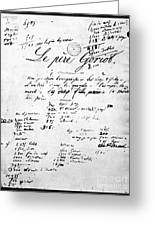 Honore De Balzac (1799-1850) Greeting Card by Granger