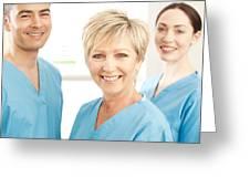 Hospital Staff Greeting Card by