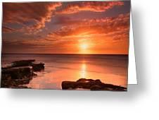 Long Exposure Sunset At A North San Greeting Card