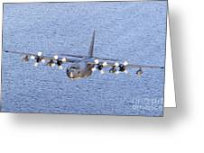 Mc-130p Combat Shadow In Flight Greeting Card
